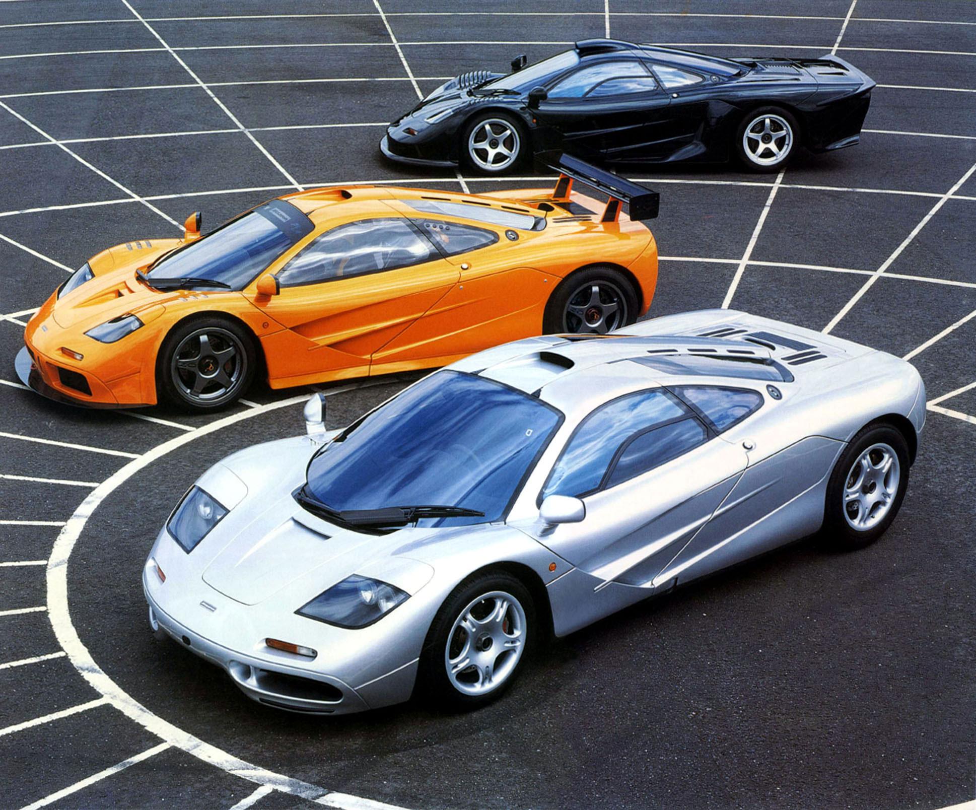 McLaren F1 History Cars
