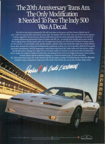 20th AE Trans Am advert