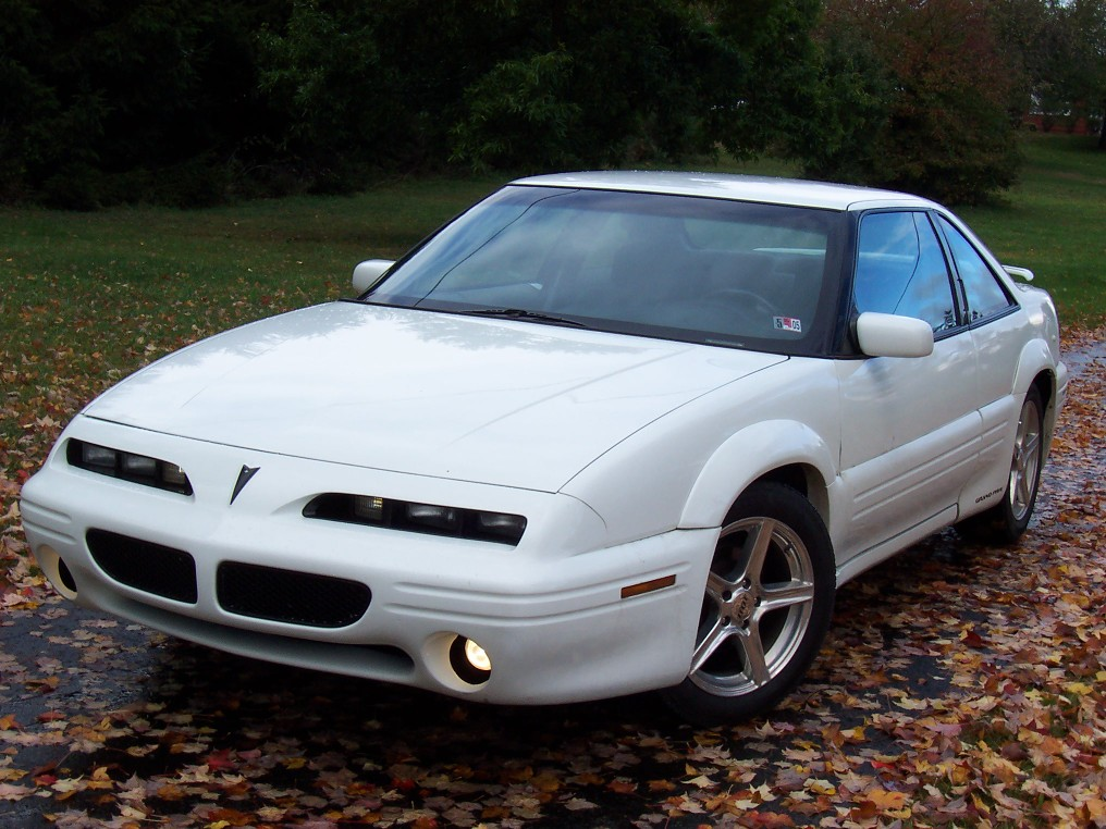 White Pontiac Grand Prix