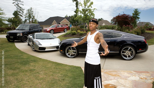Lil Bow Wow Bentley Continental GT, Lamborghini Murcielago and Range Rover Sport