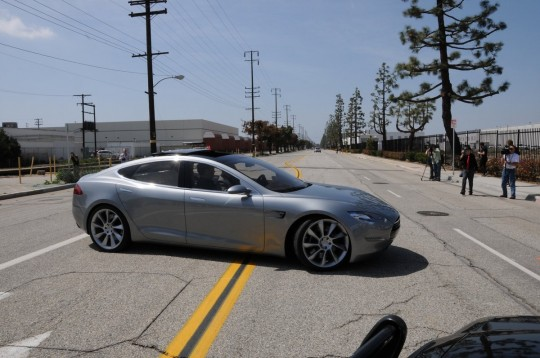 Model S Front Side View
