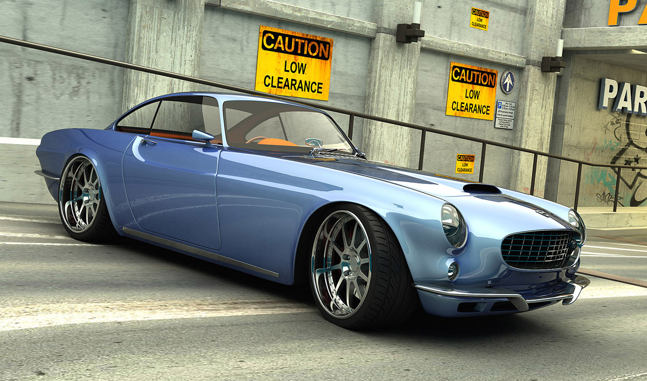 Volvo P1800 Remake Renderings