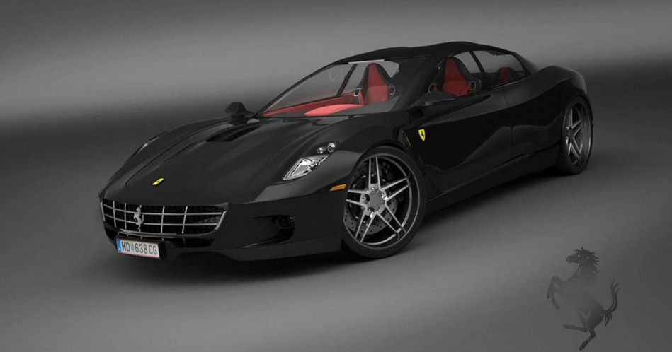 & 4-Door Ferrari Rendered pezcame.com