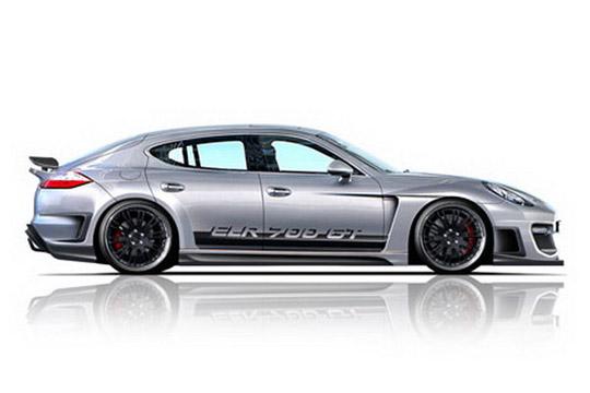 Porsche Panamera Silver. Lumma Design Porsche Panamera