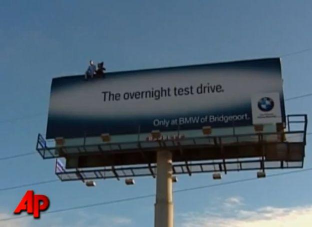 Bmw Billboard Prompts 911 Calls