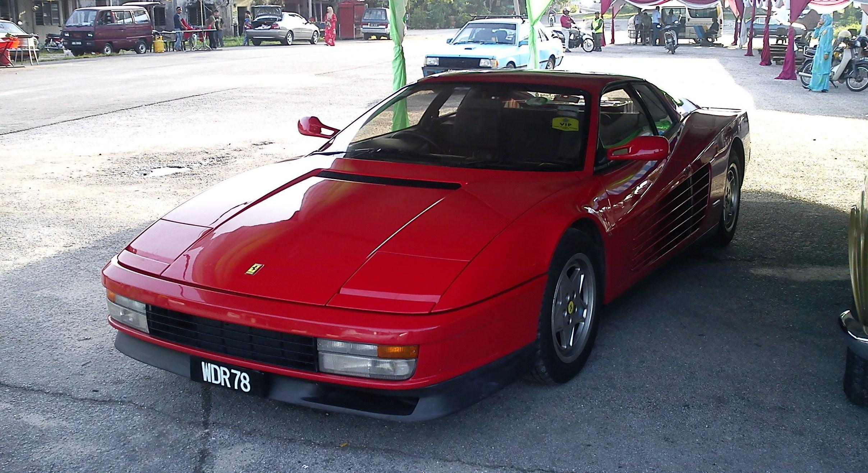 the Ferrari Testarossa.