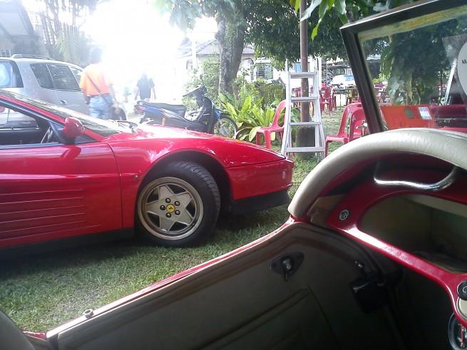 Ferrari Testarossa from a MG TF 1500