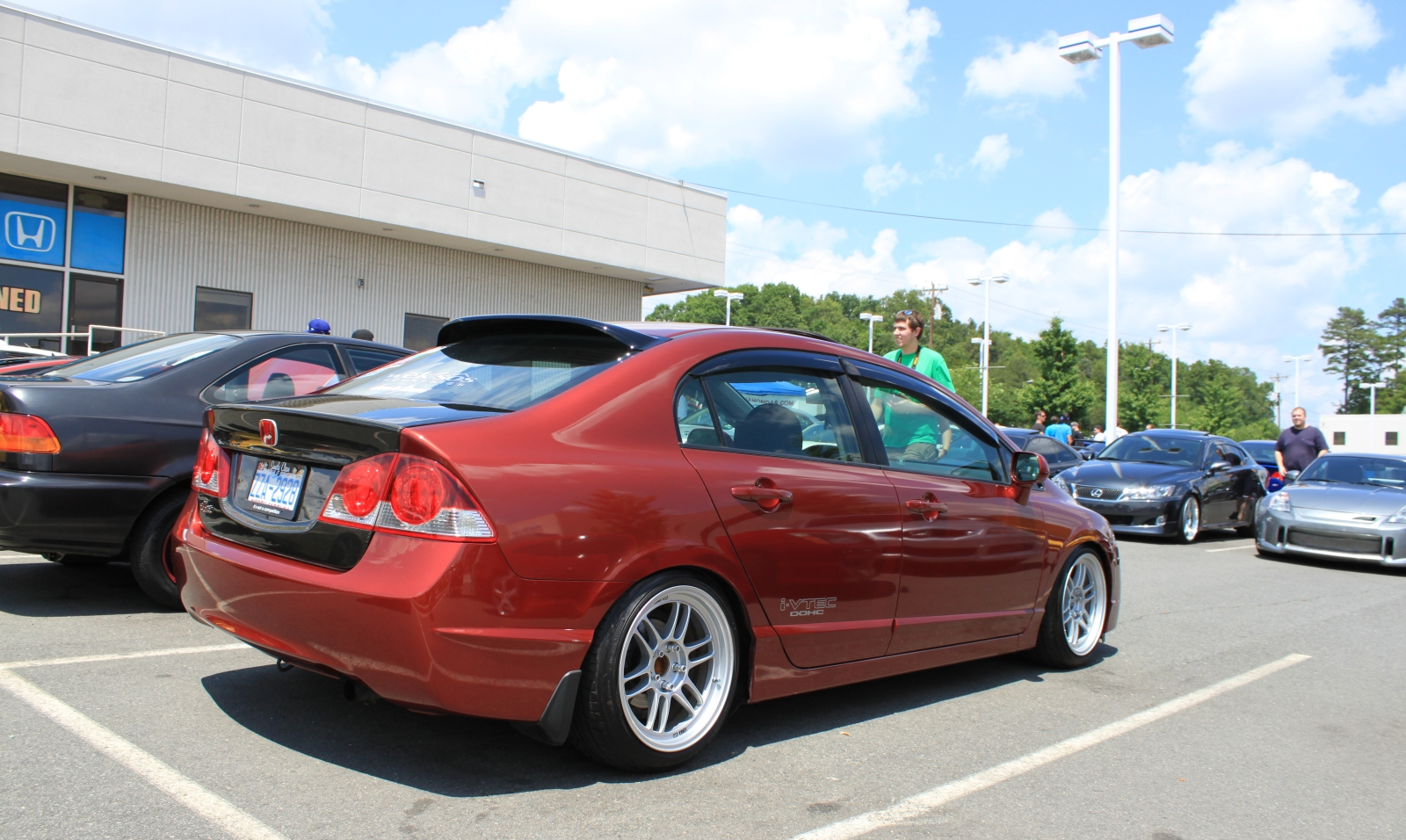 Jdm civic conversion with a carbon fibre trunk because you know
