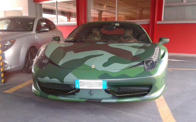 Take Cover It S Lapo Elkann S Unusual Ferrari 458 Italia