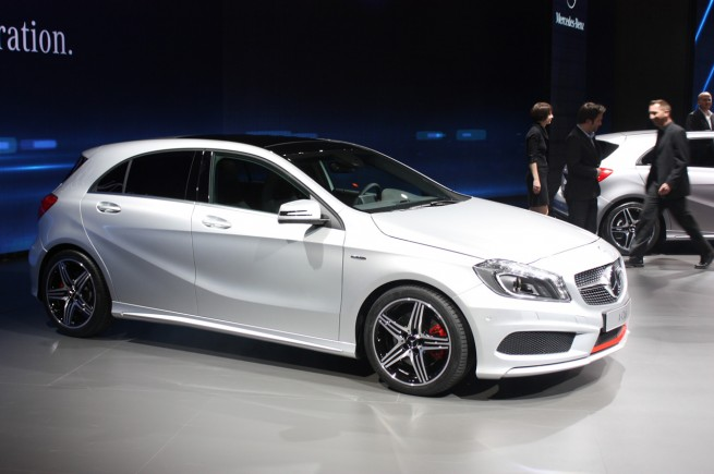 geneva 2012 new mercedes a class repels pensioners. Black Bedroom Furniture Sets. Home Design Ideas