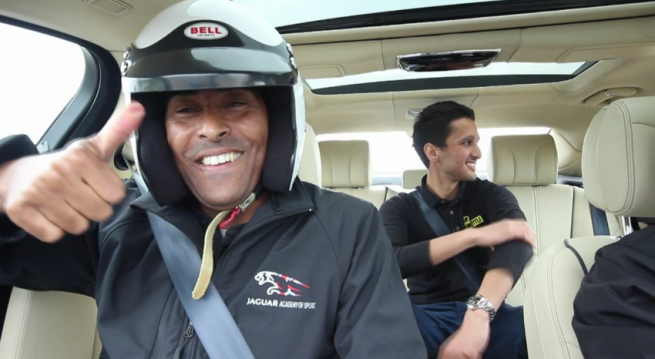 Car Throttle's Interview with Colin Jackson in Jaguar XJ SS