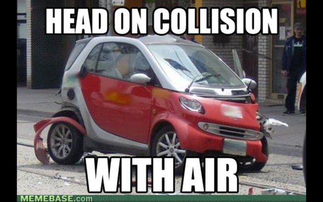 smart memes meme funny cars bad collision guy head interwebz stuff air everybody whatsapp funniest arse smartcar carthrottle sure chill