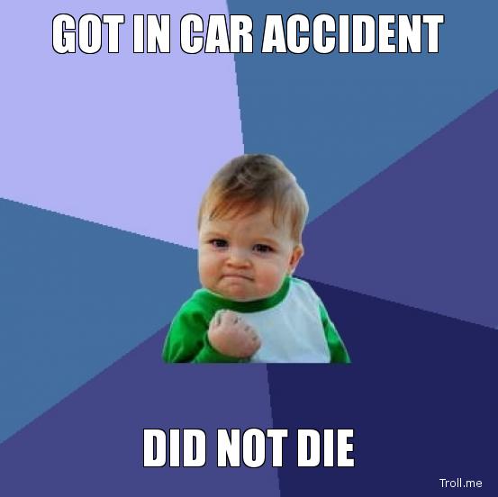 car crash meme
