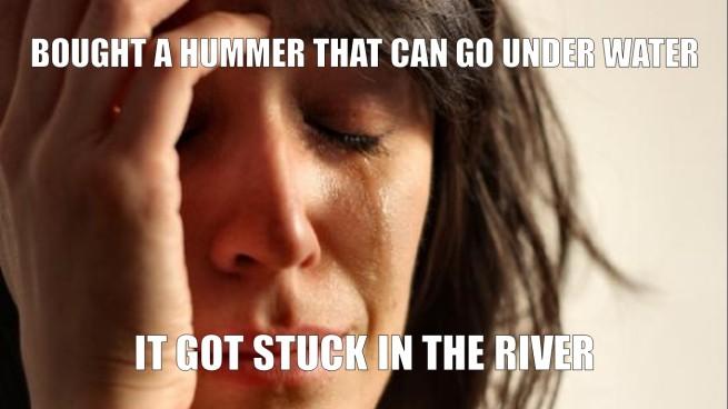 underwater hummer meme