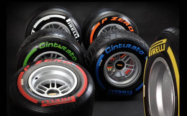 Pirelli 2013 f1 tyres selection