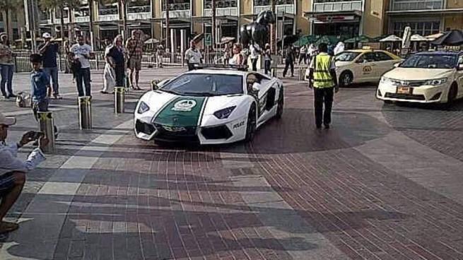 Lamborghini Aventador Dubai Police Parked
