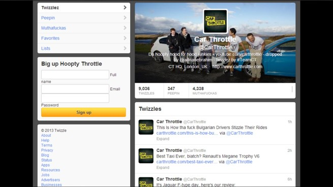 It even works with Twitter! Just Gizoogle your @-tag