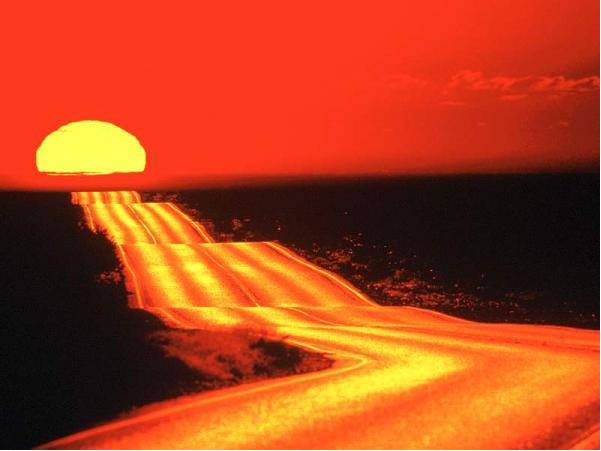 road-sunset