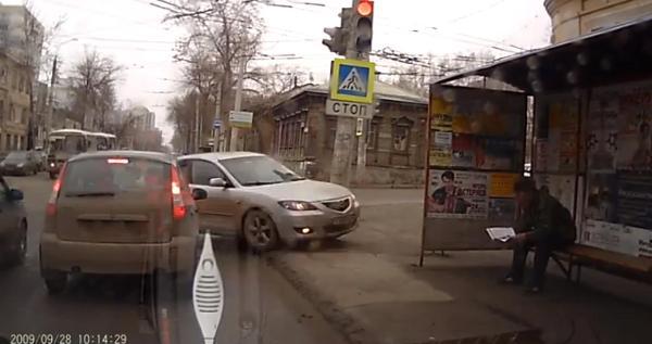 Moments before cop car vs bus stop kicks off