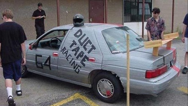 13 Clever Things You Can Do To Your Car With Duct Tape