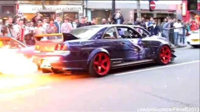 GTR Spitting Flames 2