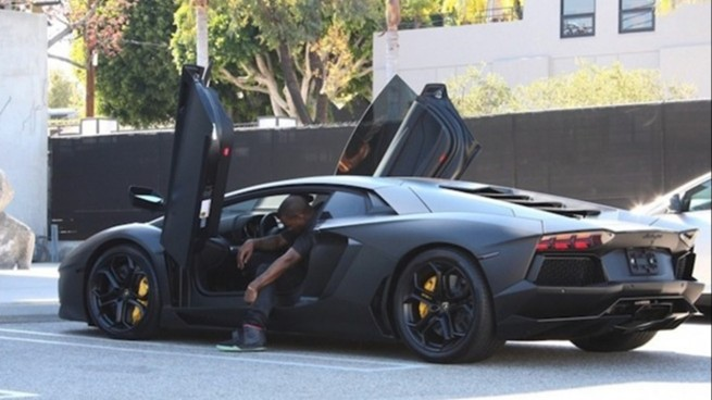 Witness This Idiot Force Kanye's Aventador Through Closing ...