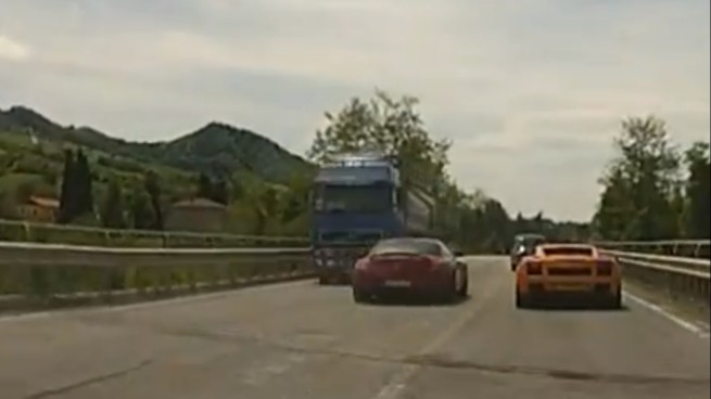 Mercedes SLS near miss