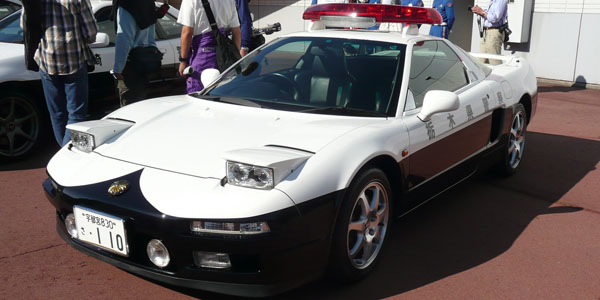 The NSX was popular with the Japanese police force
