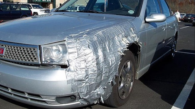 Duct Tape Car Patch