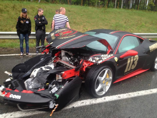 Gumball 3000 S Latest Victim Is This Smashed Ferrari 458