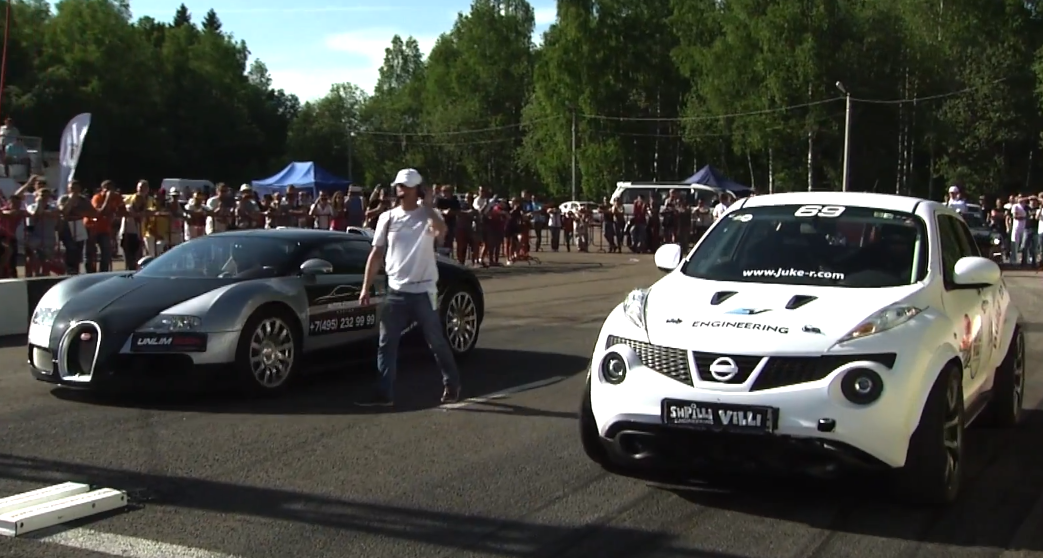 Watch This 700hp Homemade Juke R Out Drag A Veyron