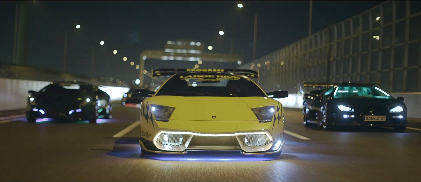 A Yakuza Crime King And His Neon Lamborghini Diablo