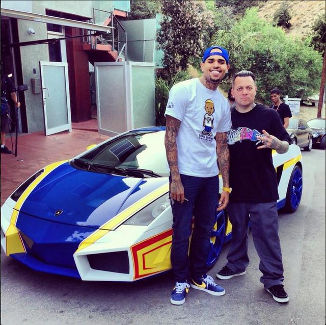 Chris Brown S Modified Aventador Looks Like A Shoe