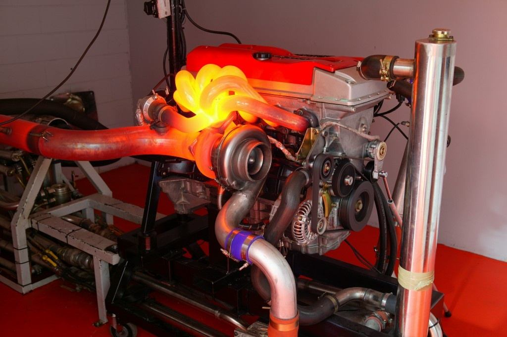Turbochargers can spin up to 150,000rpm, which makes exhaust gases quite hot...