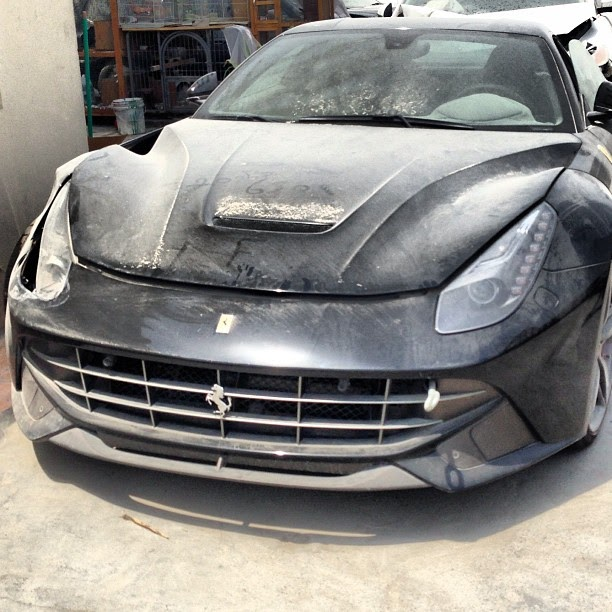This Wrecked F12 Berlinetta Is Proof That Jeremy Clarkson