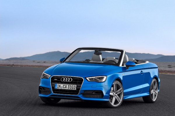 roofed A4 Cabriolet, but there's promise of a hot S4 version next year