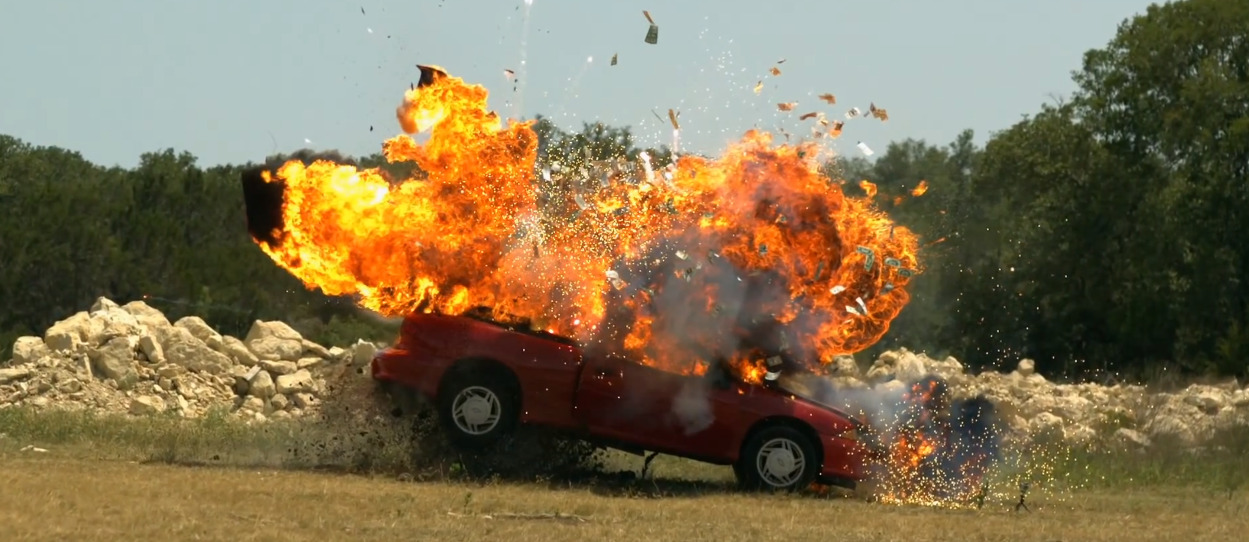 Super Slow Motion Video Of This Car Explosion Will Blow