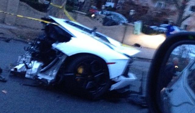 Lamborghini ripped in half