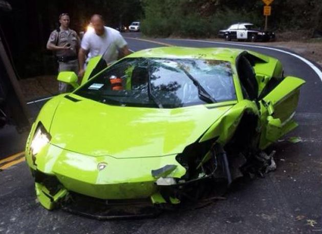 Why Lambo Aventador On Roof Because Stupid 17 Year Old Driver