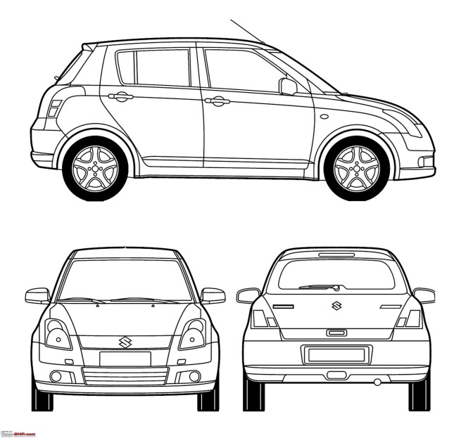 Suzuki Vitara Dibujo Black And White