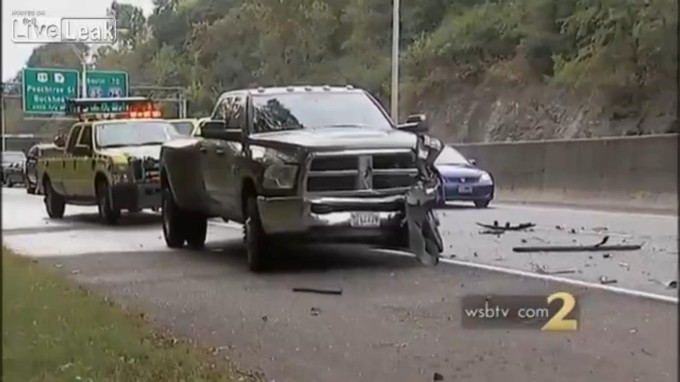 Volvo Police Car Usa >> Witness An Acid-Tripping Truck Driver Do A Savage Hit And Run