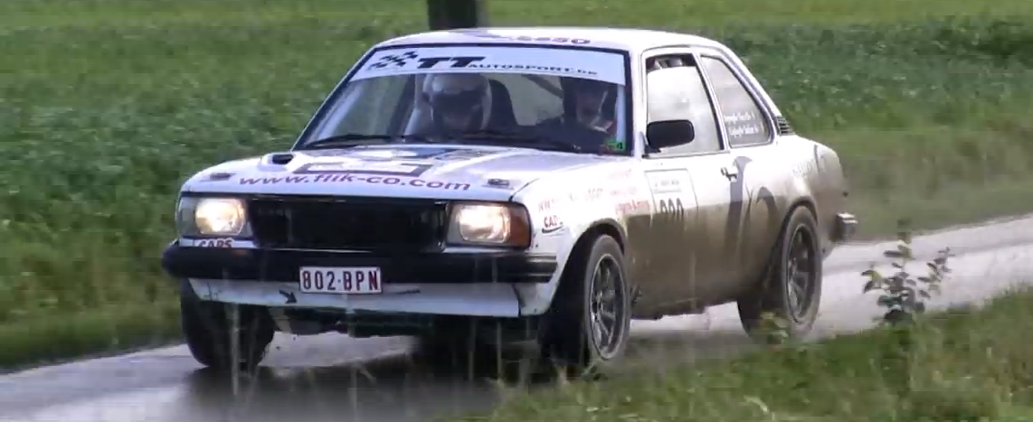 Old Opel Rally Car Attacks A House, But The House Finishes The Fight