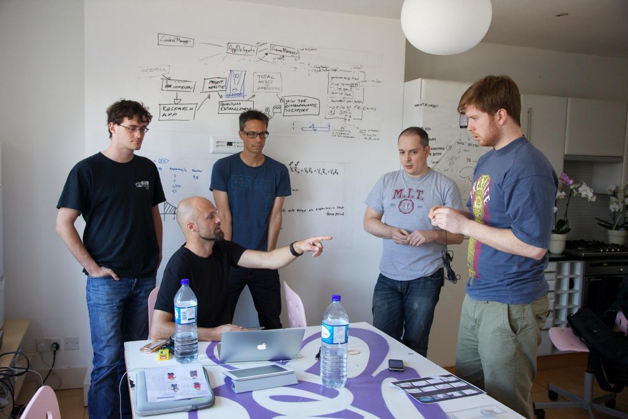 RjDj's team at work in their London office