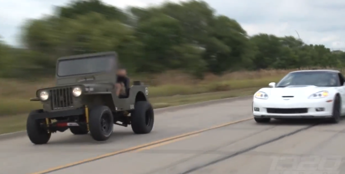 This Nos Powered Willys Jeep Obliterates A Zr1