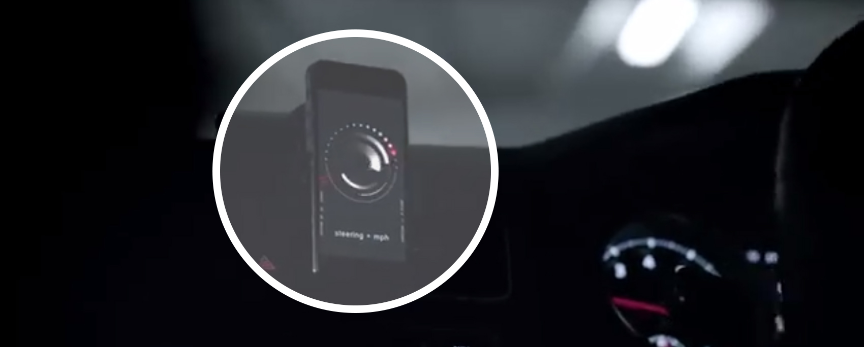 VW's app also detects acceleration and turning forces and converts these into audio track changes