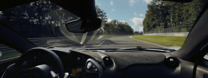 McLaren P1 nurburbring