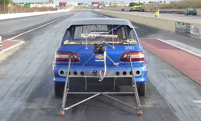 The World S Fastest Toyota Starlet Is A Tiny 9 Second Dragster