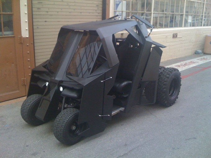 This batman tumbler golf cart is the best way to spend 17 500 for Mercedes benz garia golf cart price