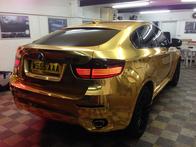 Gold Chrome Wrapped Bmw X6 Hot Or Not