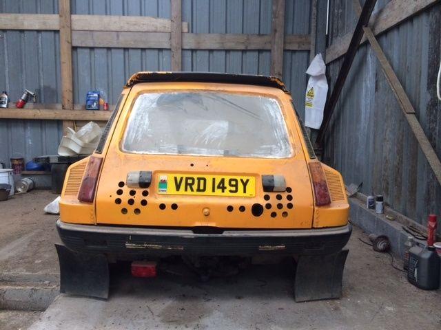 bid on this barn found renault 5 turbo and live out your group b rally dreams. Black Bedroom Furniture Sets. Home Design Ideas